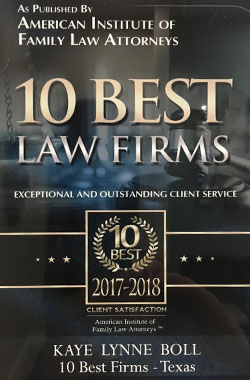 10 Best Law Firms Award for Our Family Law Office in North Richland Hills