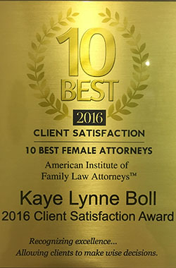 Client Satisfaction Plaque for Our Family Law Office in North Richland Hills